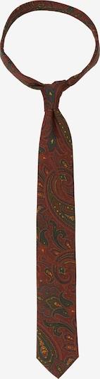 SEIDENSTICKER Krawatte 'Schwarze Rose' in rostbraun / dunkelgrün / orange, Produktansicht
