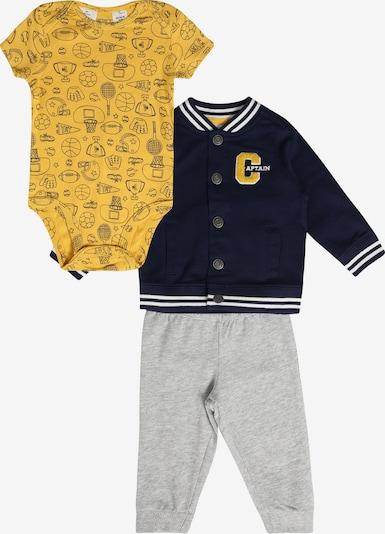 Carter's Pyjama 'Cardigan Set F19 B Cardi Set Sports' en bleu marine / gris, Vue avec produit