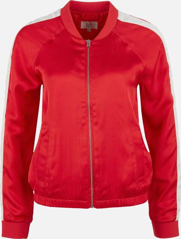 Q S designed by Bomberjacke aus Satin in rot   weiß  Neue Kleidung in dieser Saison
