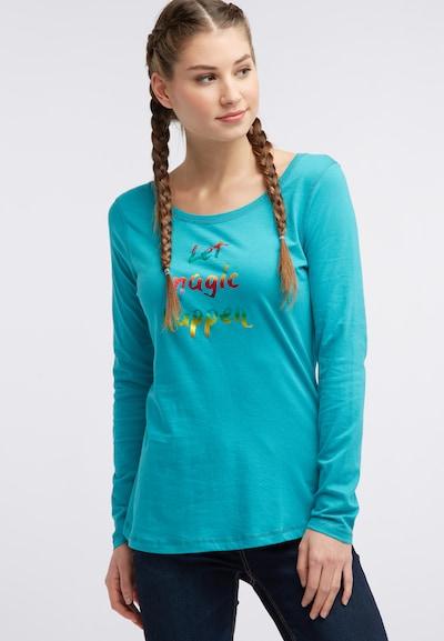 MYMO T-shirt en turquoise: Vue de face