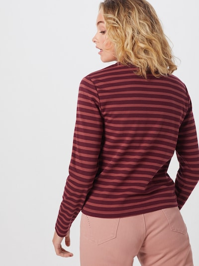 ONLY Koszulka 'AMANDA' w kolorze czerwone winom: Widok od tyłu