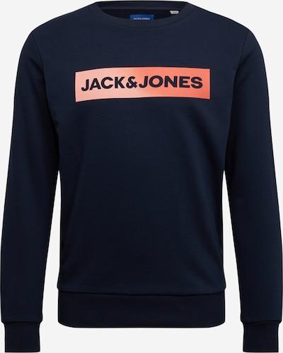 JACK & JONES Mikina 'JORTOP' - námořnická modř / oranžová, Produkt