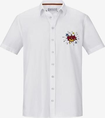 Chemise 'Popexplosion' Shirtmaster en blanc