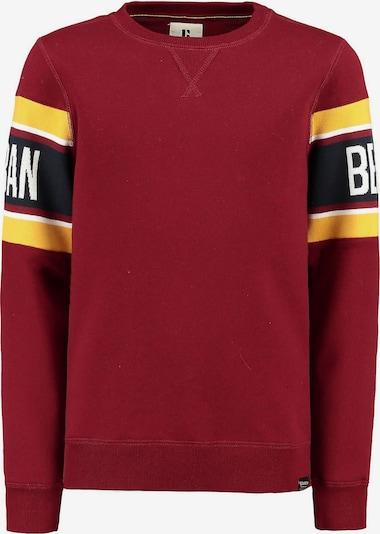 GARCIA Sweatshirt in goldgelb / rot / weiß: Frontalansicht