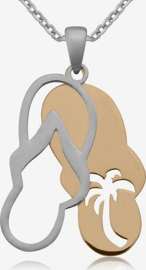 FIRETTI Kette mit Anhänger 'Sandale' in silber, Produktansicht