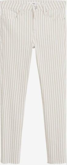 MANGO Jeans 'Isa' in de kleur Beige / Wit, Productweergave