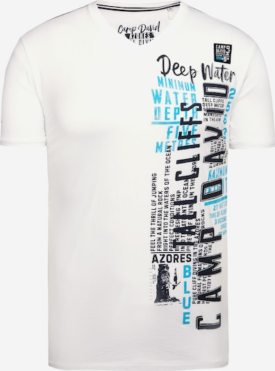 CAMP DAVID T-Shirt in schwarz / weiß, Produktansicht