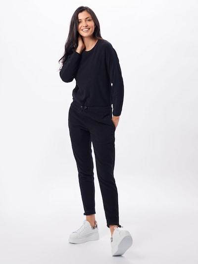 Urban Classics Jumpsuit 'Ladies Polar Fleece Jumpsuit' in de kleur Zwart, Modelweergave