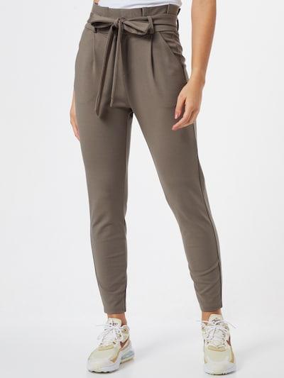 Kelnės su kantu iš VERO MODA , spalva - tamsiai ruda / pilka, Modelio vaizdas