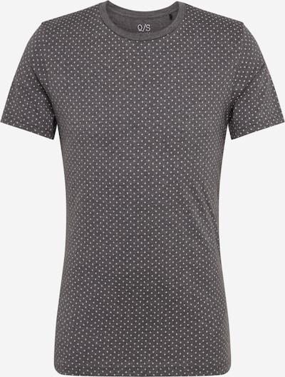 Q/S designed by Shirt in anthrazit / weiß: Frontalansicht