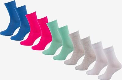 s.Oliver Socken in blau / taupe / grün / hellrot / weiß, Produktansicht