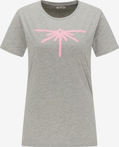Petrol Industries T-Shirt in graumeliert / pink, Produktansicht