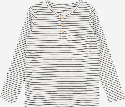 NAME IT Shirt 'VALENTIN' in schwarz / weiß, Produktansicht