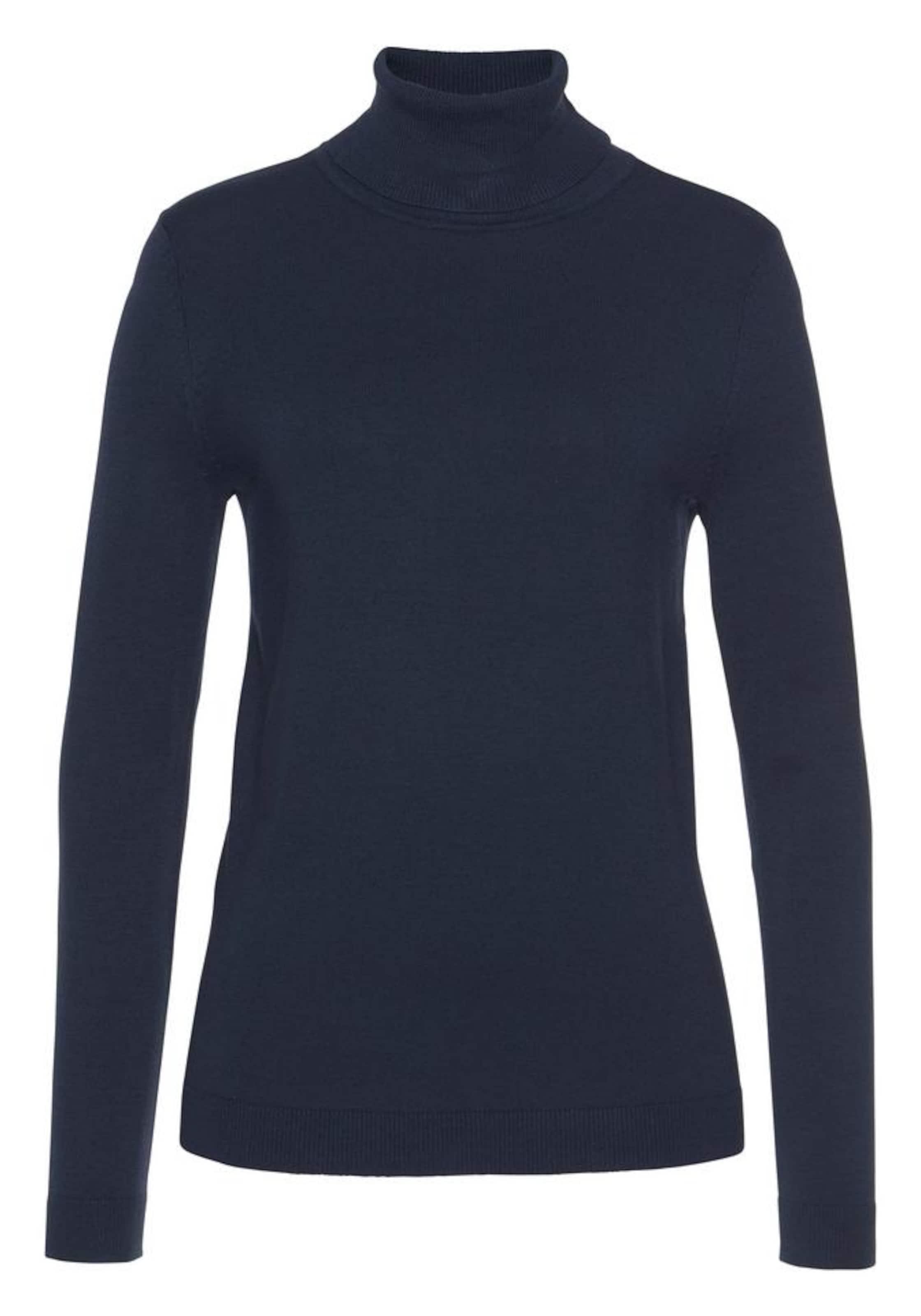 FLASHLIGHTS Rollkragenpullover in dunkelblau / grau