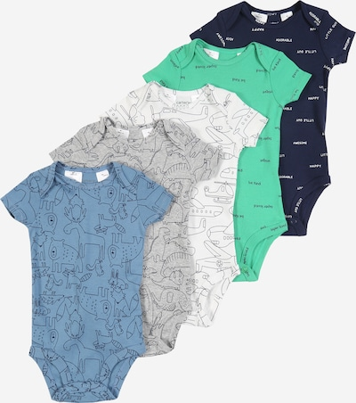 Carter's Barboteuse / body en bleu / gris / vert / blanc, Vue avec produit