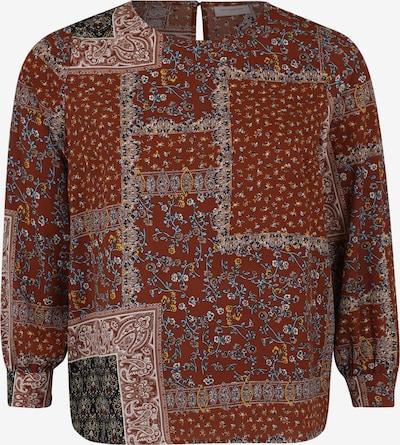 ONLY Carmakoma Bluza | rjasto rjava / mešane barve barva: Frontalni pogled