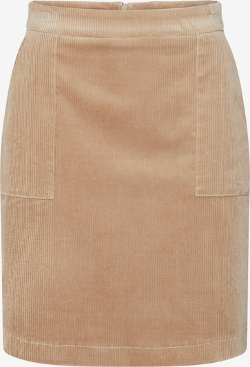 re.draft Rock 'Cord Skirt' in karamell, Produktansicht