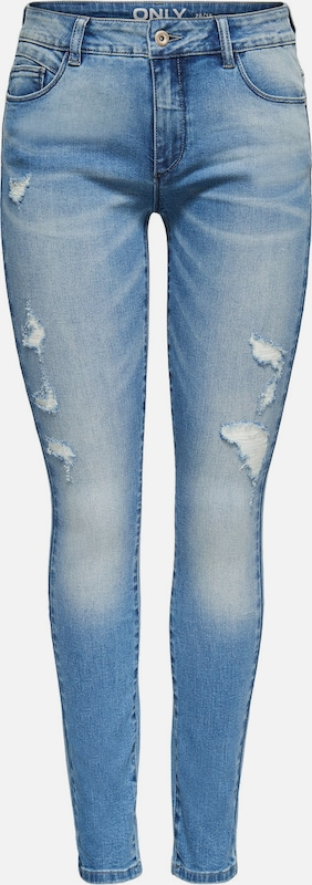 ONLY 'Carmen 2 reg' Skinny Fit Jeans  in Blau denim  Neuer Aktionsrabatt