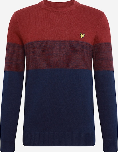 Lyle & Scott Pullover 'Chest Panel Jumper ' in navy / rostrot, Produktansicht