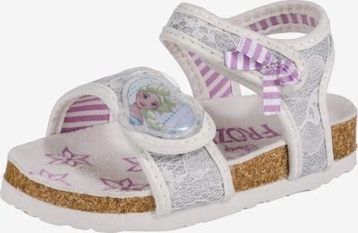 DISNEY Sandalen 'Die Eiskönigin' in lila / silber / weiß, Produktansicht