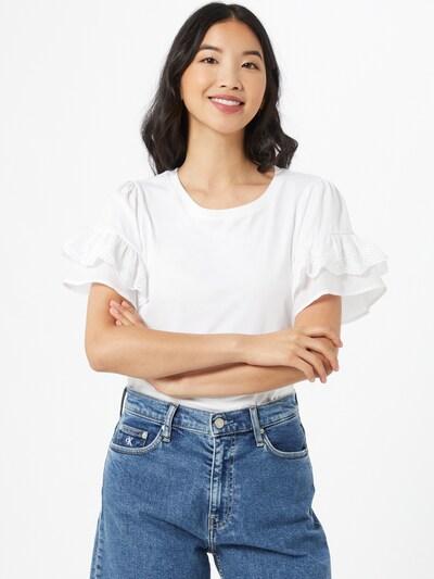 River Island T-shirt 'BRODERIE' en blanc: Vue de face