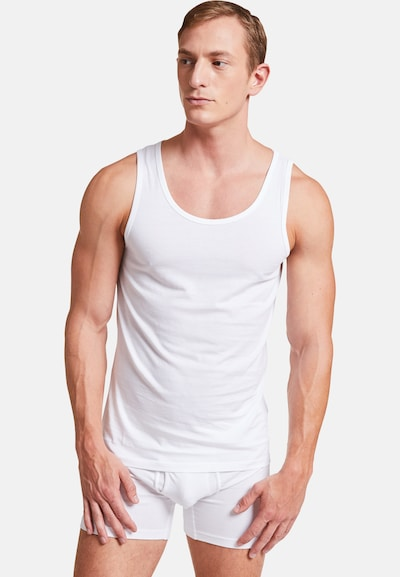 VATTER 'Tough Tony' Tank Top in weiß, Modelansicht