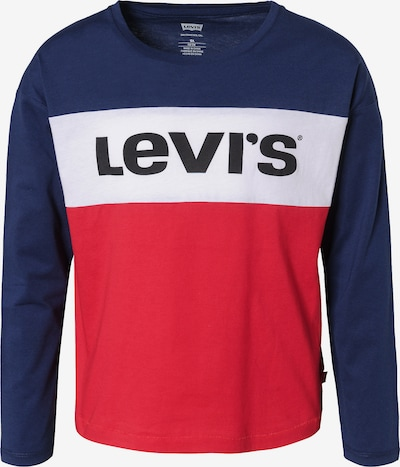 LEVI'S Langarmshirt cropped in blau / rot / weiß, Produktansicht
