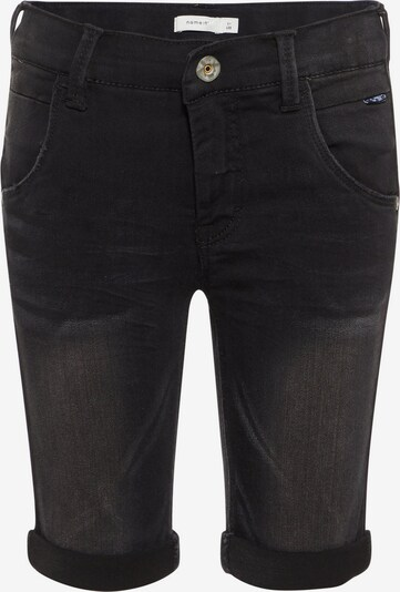 NAME IT 'Theo X-Slim Fit Super Stretch' - lange Jeansshorts in black denim, Produktansicht