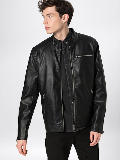 ABOUT YOU Jacke 'Nick' in schwarz: Frontalansicht