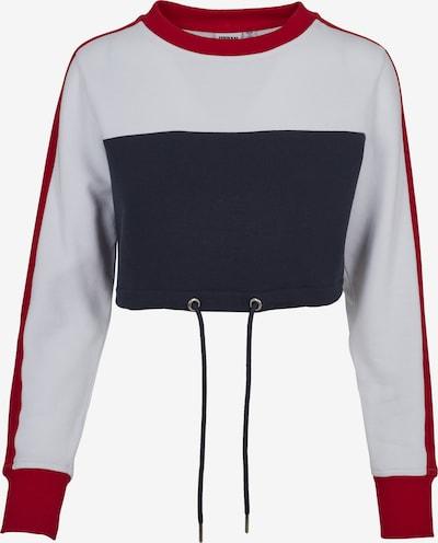 Urban Classics Sweatshirt in nachtblau / rot / weiß, Produktansicht