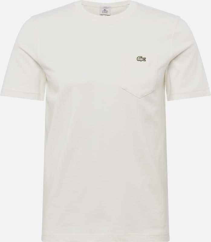 Lacoste Live shirt T En Crème nmNv8w0O