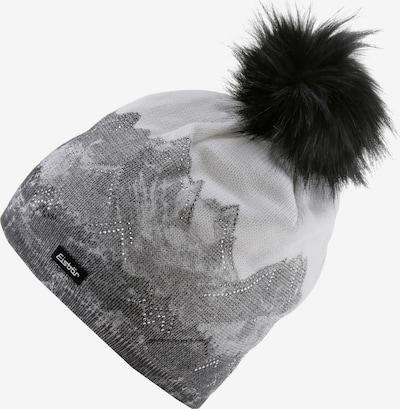 Eisbär Mütze 'Draw' in hellgrau / dunkelgrau, Produktansicht