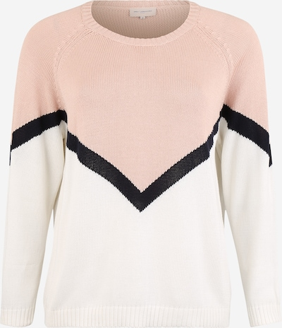 ONLY Carmakoma Pulover 'CARSARA ' | rosé / bela barva, Prikaz izdelka