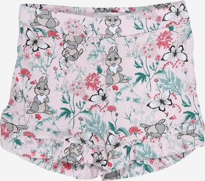NAME IT Shorts in grau / smaragd / pastellpink / dunkelpink, Produktansicht