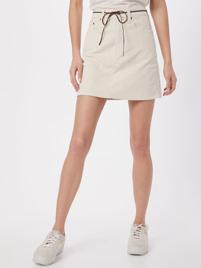 LEVI'S Spódnica 'HR DECON ICONIC SKIRT' w kolorze białym: Widok z przodu
