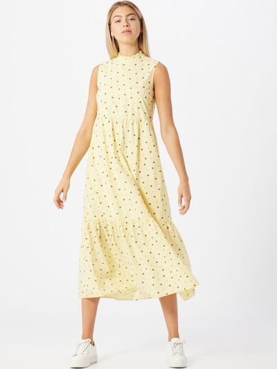 PIECES Kleid in pastellgelb / mischfarben, Modelansicht
