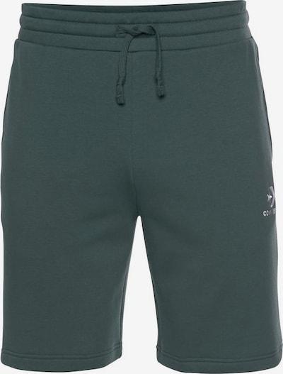 CONVERSE Shorts in dunkelgrün / weiß, Produktansicht