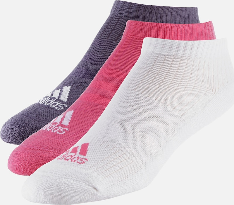 ADIDAS PERFORMANCE Sneakersocken in grau / pink / weiß, Produktansicht