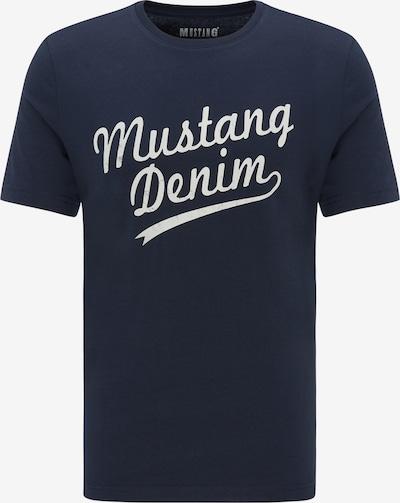 MUSTANG T-Shirt 'Printed Tee' in dunkelblau / weiß, Produktansicht