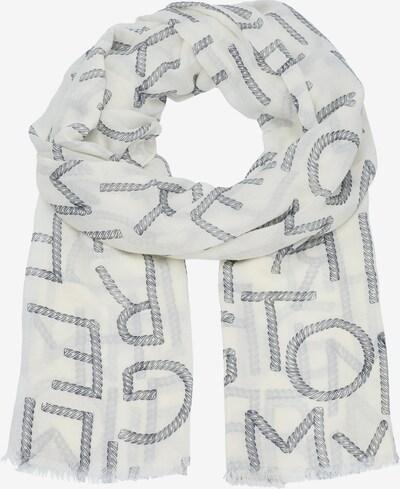 TOMMY HILFIGER Sjaal 'Poppy' in de kleur Zwart / Wit, Productweergave