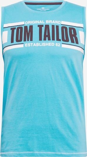TOM TAILOR Shirt in de kleur Nachtblauw / Aqua / Wit, Productweergave