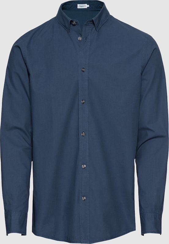 Filippa K Hemd 'M. Ben Washed Poplin Shirt' in dunkelblau  Neu in diesem Quartal