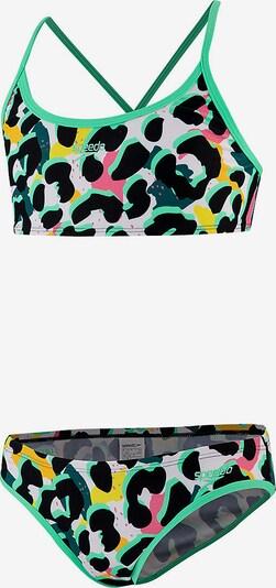 SPEEDO Bikini in limette / schwarz / weiß, Produktansicht
