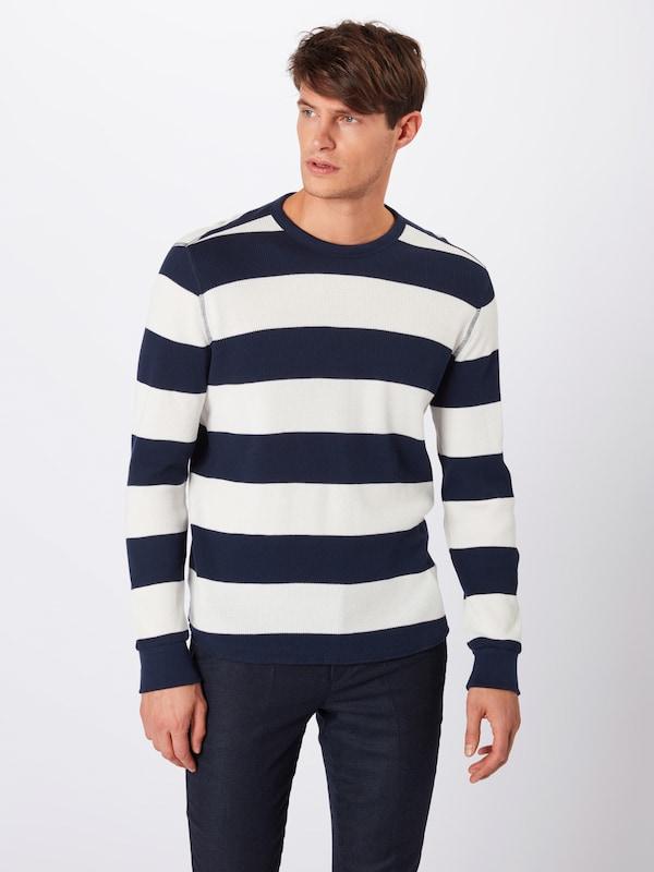 T stripe shirt MarineBlanc Gap Bleu 'v Thermal' En vy8Omn0wN