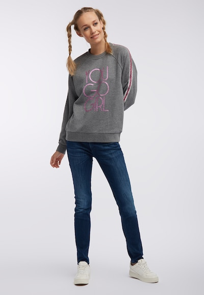 MYMO Sweatshirt in Grey / Pink, Item view