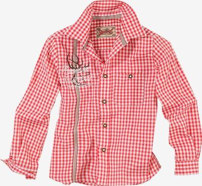 STOCKERPOINT Hemd in braun / rot / weiß, Produktansicht