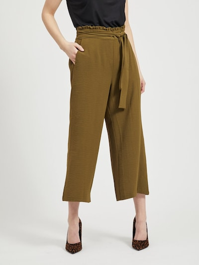 VILA Pantalon en kaki, Vue avec modèle