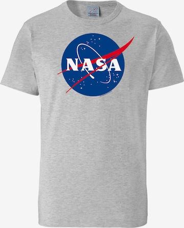 LOGOSHIRT Shirt 'NASA' in Grey