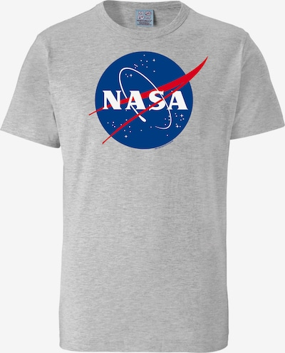 LOGOSHIRT T-Shirt 'NASA' in graumeliert / mischfarben, Produktansicht