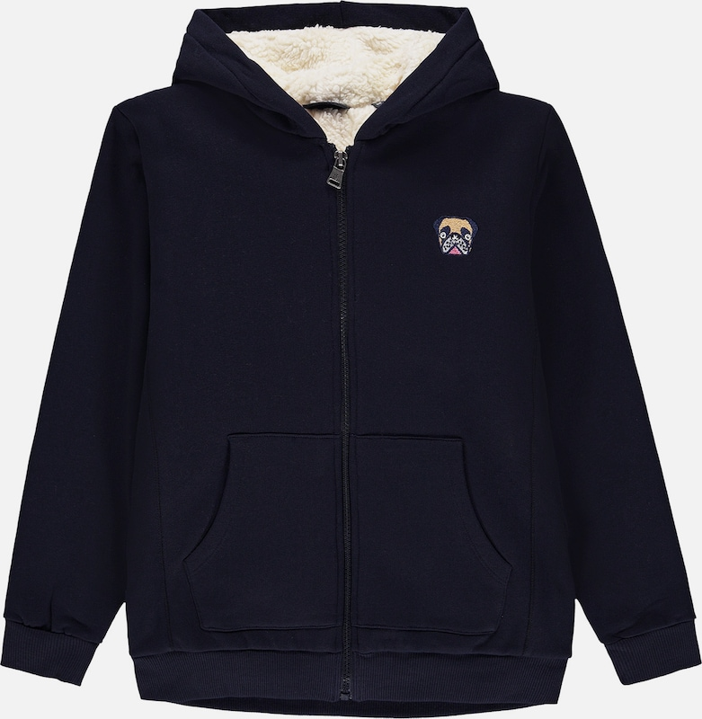 Marc O'Polo Junior Sweatjacke in kobaltblau, Produktansicht